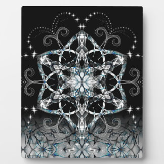 Blue Snow Flower Plaque