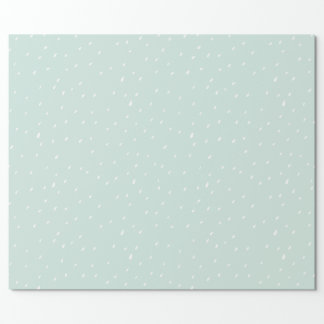 Blue Snow Matte Wrapping Paper 30 Inches x 6ft