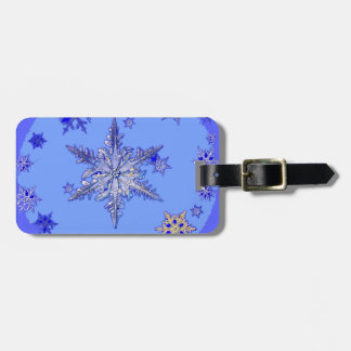 """""""BLUE SNOW ON SNOW"""" BLUE WINTER gifts Luggage Tag"""