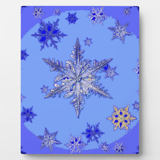"""BLUE SNOW ON SNOW"" BLUE WINTER gifts Plaque"