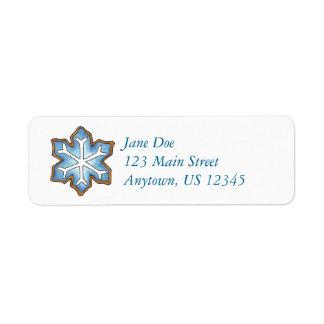 Blue Snow Winter Snowflake Sugar Cookie Labels