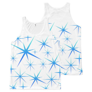 Blue snowflake All-Over-Print tank top