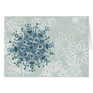 Blue Snowflake Card
