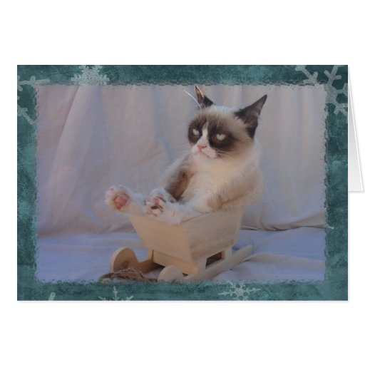Blue Snowflake Card | Dashing through the.... NO!