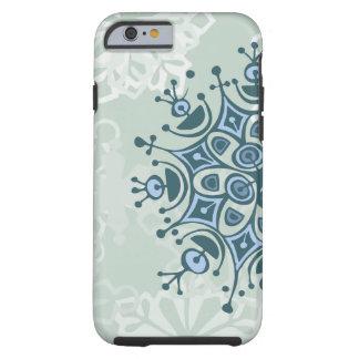 Blue Snowflake Tough iPhone 6 Case
