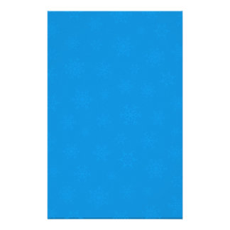 Blue Snowflake Christmas Holiday Stationery Paper