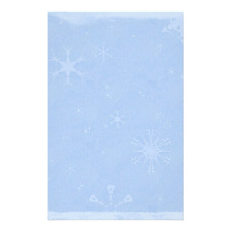 Blue Snowflake Christmas Stationery Paper