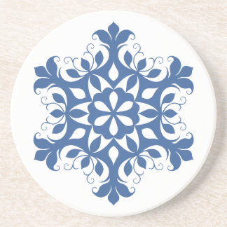 Blue Snowflake Coaster