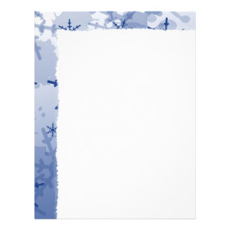 Blue Snowflake Customized Letterhead