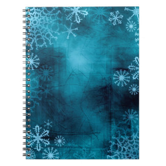 Blue Snowflake Grunge Notebook