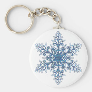 Blue Snowflake Key Chain