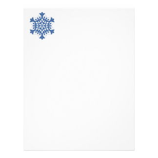Blue Snowflake Letterhead