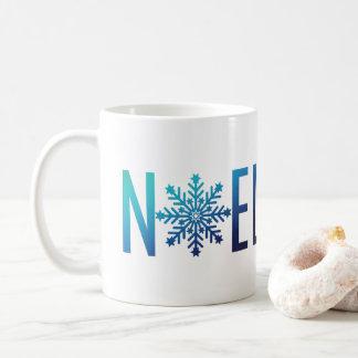 Blue Snowflake Noel Christmas Personalized Coffee Mug