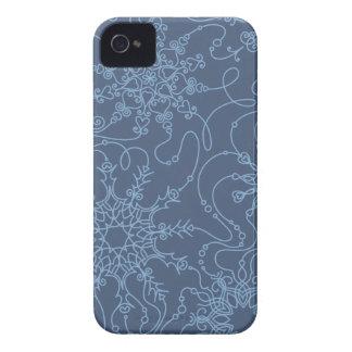 Blue snowflake pattern Case-Mate iPhone 4 case