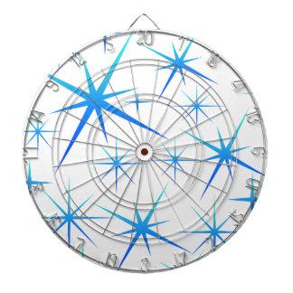 Blue snowflake pattern dartboard