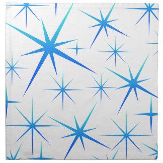Blue snowflake pattern napkin