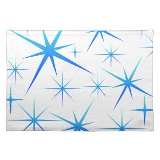 Blue snowflake pattern placemat