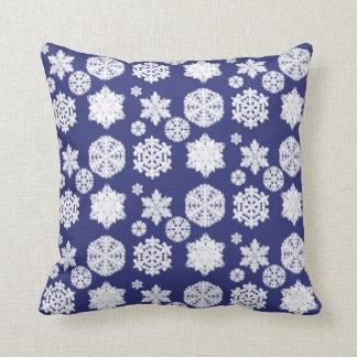 Blue Snowflake Pillow
