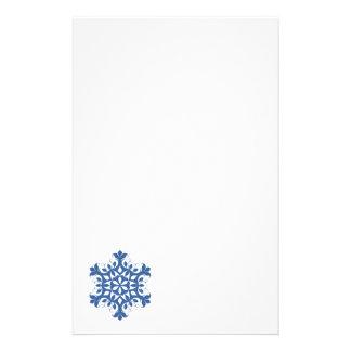 Blue Snowflake Stationery