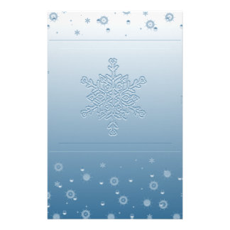 Blue Snowflake Stationery