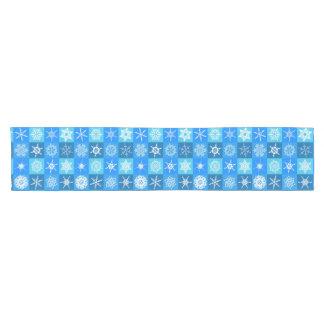 Blue Snowflake Tabletop Runner