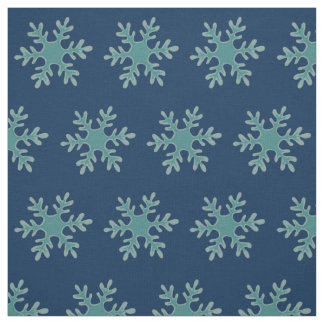 Blue Snowflake Vector Illustration Fabric