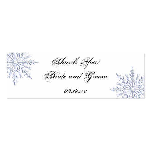 Blue Snowflake Wedding Favor Tags Business Card Templates