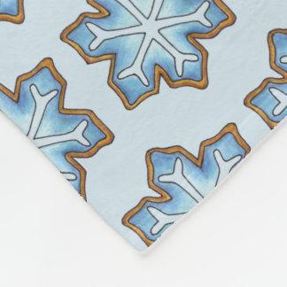 Blue Snowflake Winter Hanukkah Christmas Holiday Fleece Blanket