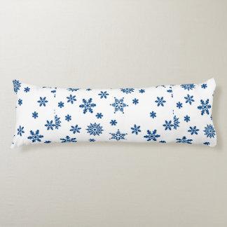 Blue Snowflakes Body Pillow