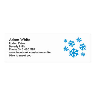 Blue snowflakes business card