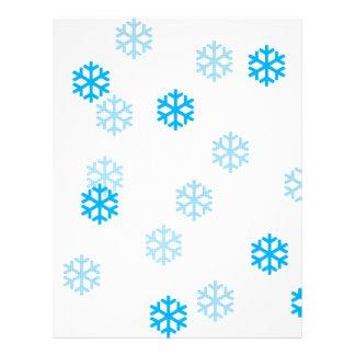 Blue Snowflakes Customize Me Letterhead