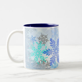 Blue Snowflakes Design Coffee Mug