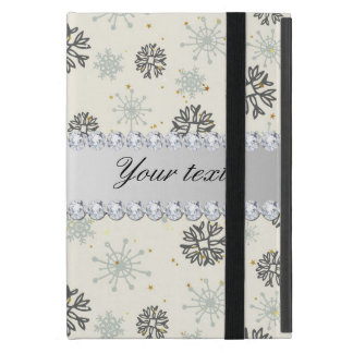 Blue Snowflakes Gold Stars Silver Diamonds Cover For iPad Mini