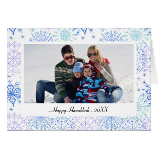 Blue Snowflakes - Hanukkah Card