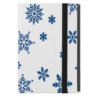Blue Snowflakes iPad Mini Cover