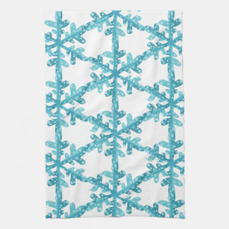 Blue Snowflakes Kitchen or Bath Towel