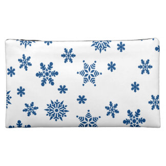 Blue Snowflakes Makeup Bags