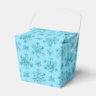Blue Snowflakes-PARTY FAVOR BOXES, take out Favor Boxes