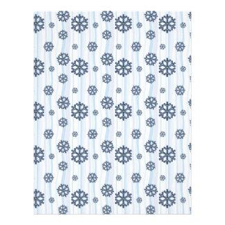Blue snowflakes pattern design letterhead design
