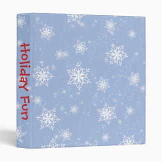 Blue Snowflakes Photo Album 3 Ring Binders