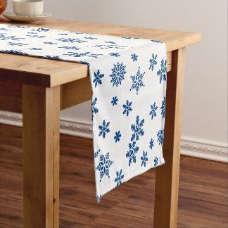 Blue Snowflakes Short Table Runner