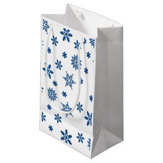Blue Snowflakes Small Gift Bag
