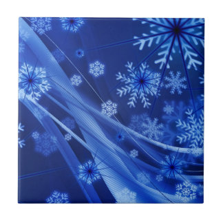 Blue Snowflakes Tile