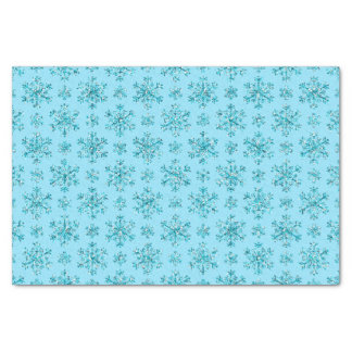 Blue Snowflakes-TISSUE WRAPPING PAPER