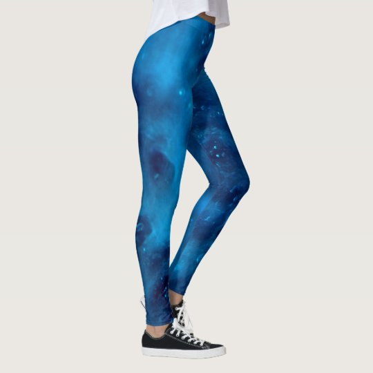 Blue Soap Sud Patterned Leggings