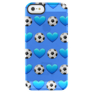 Blue Soccer Ball Emoji iPhone SE/5/5s Clearly™Case Clear iPhone SE/5/5s Case