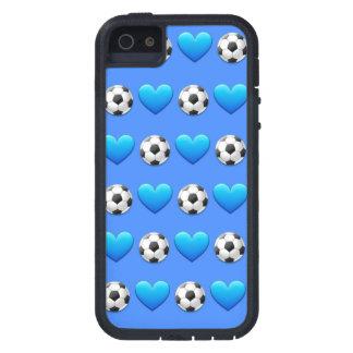 Blue Soccer Ball Emoji iPhone SE/5/5s Phone Case