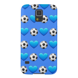 Blue Soccer Ball Emoji Samsung Galaxy S5 Case