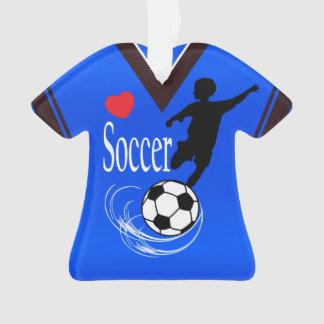 Blue Soccer Ball Shirt Ornament