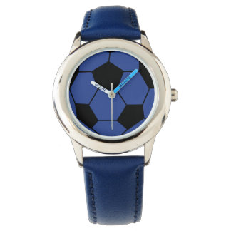 Blue Soccer Ball Wrist Watch